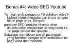 bonus 4 video seo youtube
