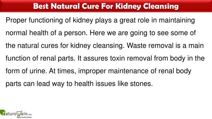 Best Natural Cure For Kidney Cleansing