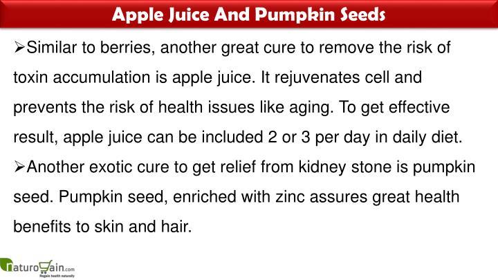 Apple Juice And Pumpkin Seeds