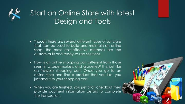 Start an Online Store with latest Design and Tools