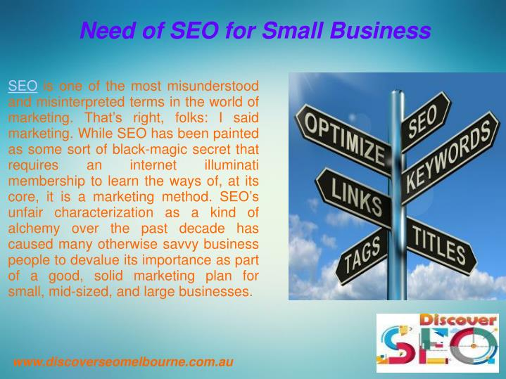 Need of SEO for Small Business
