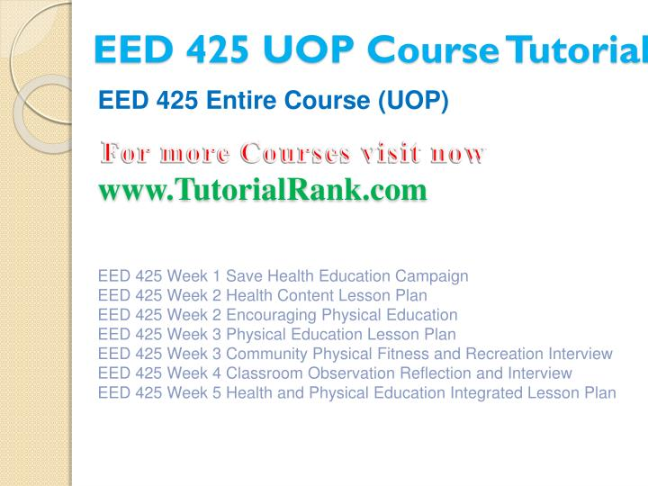 Eed 425 uop course tutorial1