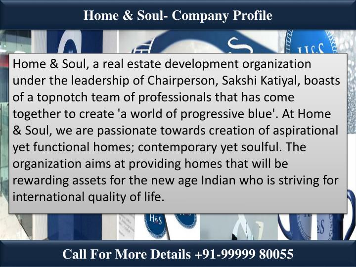 Home & Soul- Company Profile