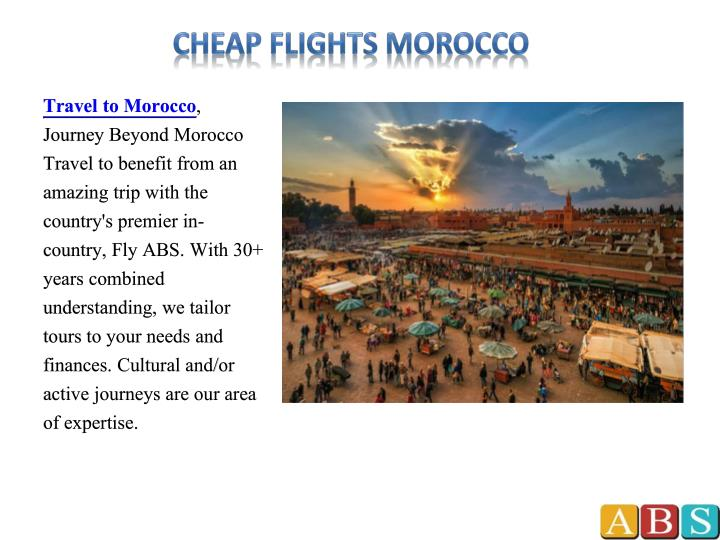 Cheap flights morocco