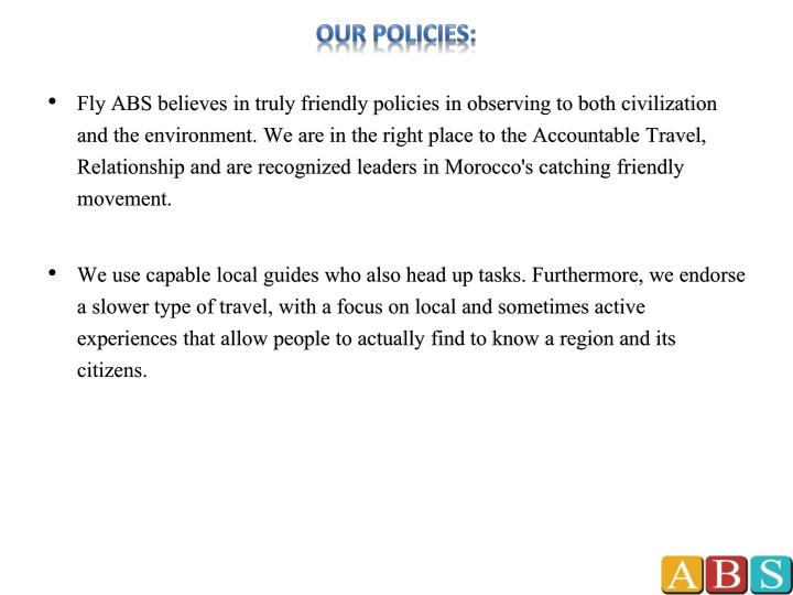 Our policies: