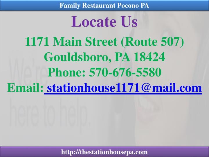 Family Restaurant Pocono PA