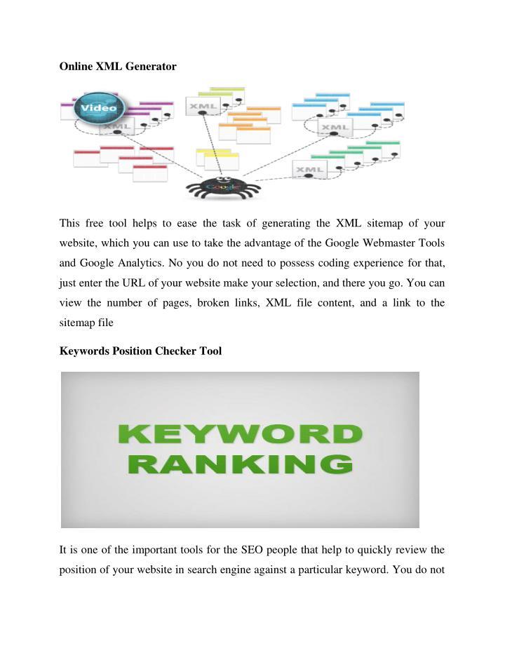 Online XML Generator