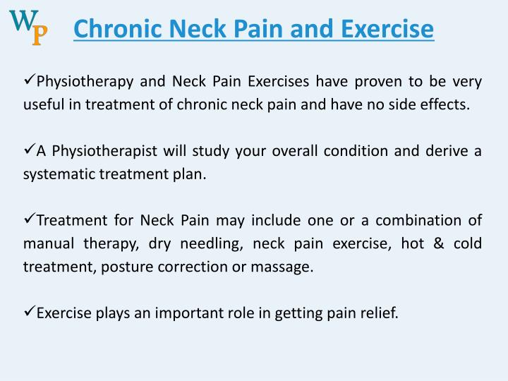 Chronic Neck Pain and Exercise
