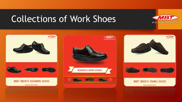 Collections of work shoes