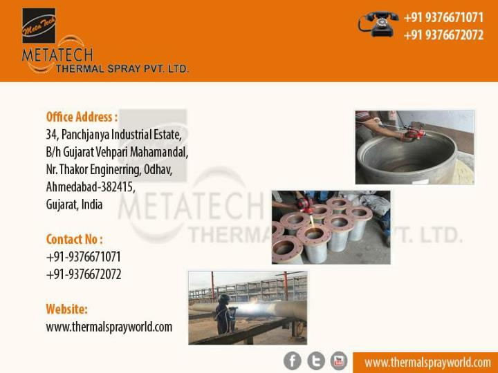 Thermal spray s s coating boiler tube coating