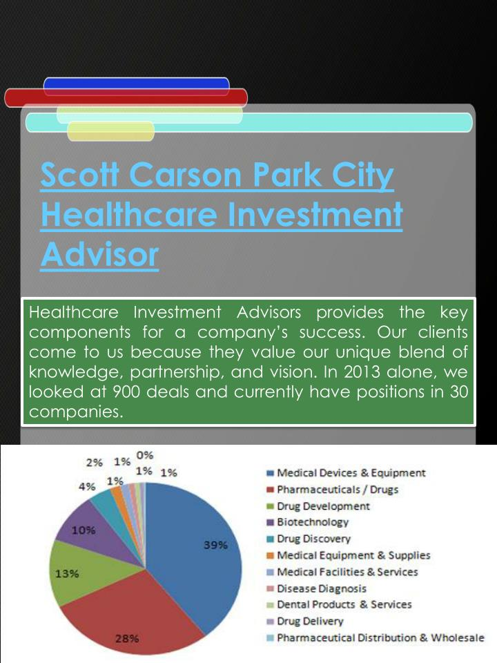 Scott Carson Park City Healthcare Investment Advisor