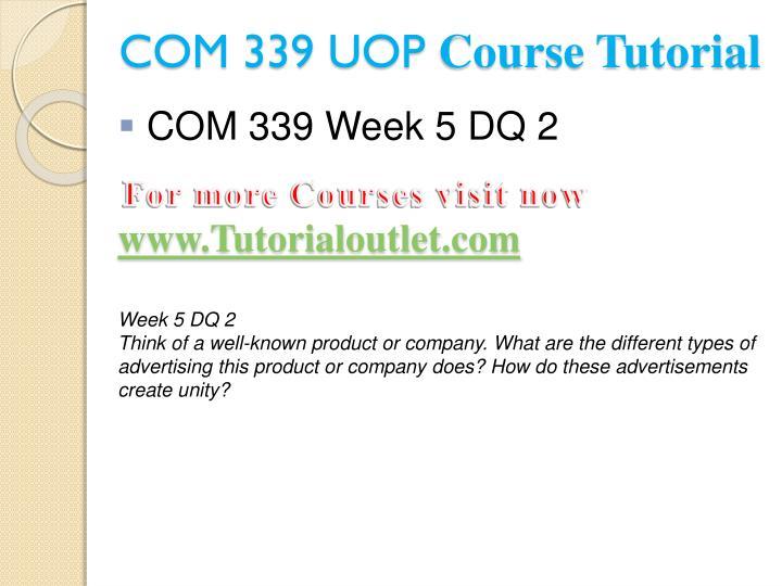 COM 339 UOP