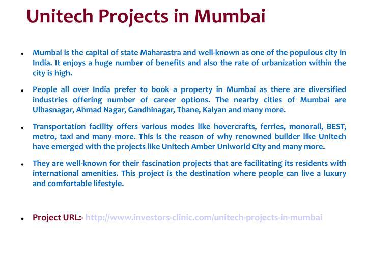 Unitech Projects in Mumbai