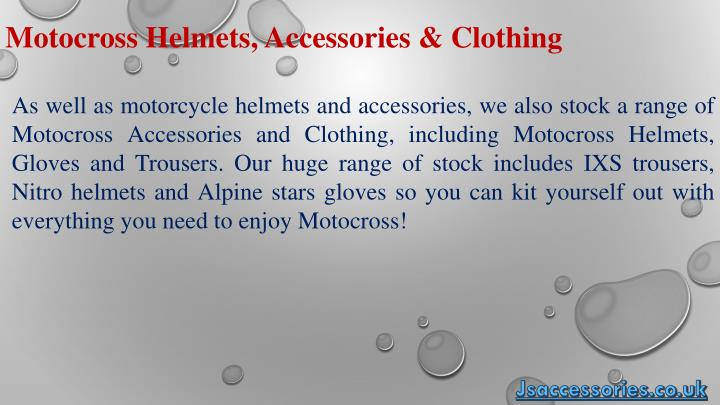 Motocross Helmets, Accessories & Clothing