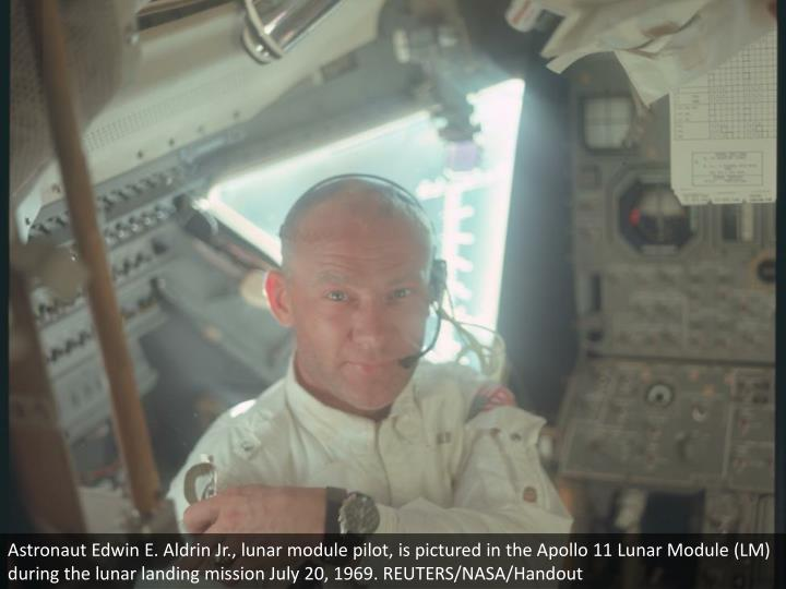 Astronaut Edwin E. Aldrin Jr., lunar module pilot, is pictured in the Apollo 11 Lunar Module (LM) during the lunar landing mission July 20, 1969. REUTERS/NASA/Handout