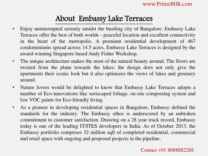 About embassy lake terraces