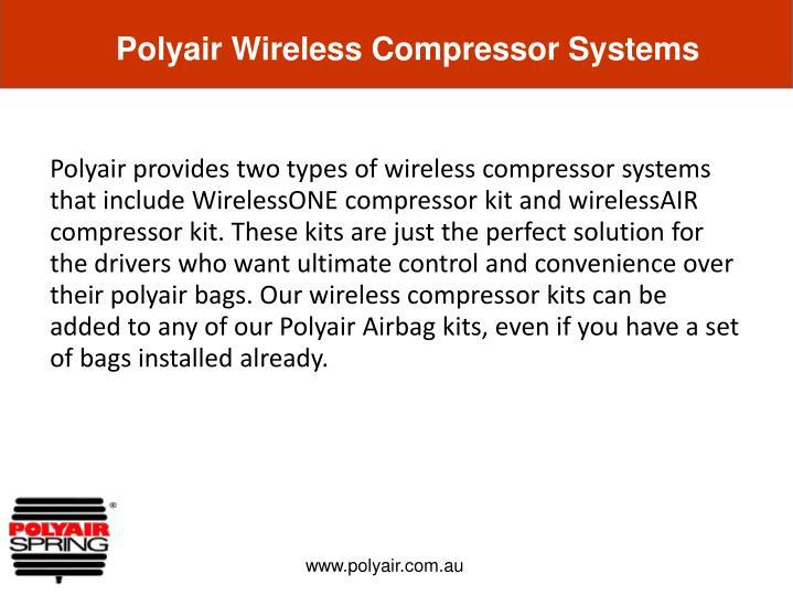 Polyair Wireless Compressor Systems