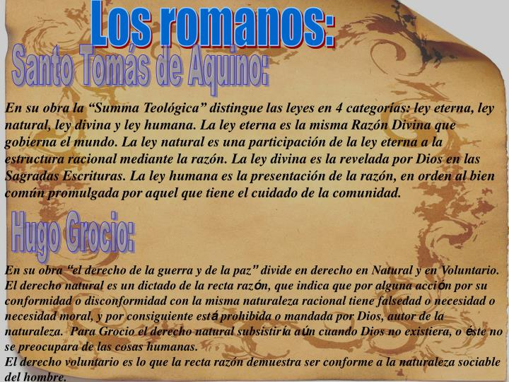 Los romanos: