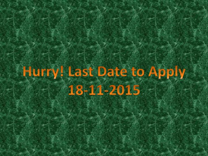 Hurry! Last Date to Apply