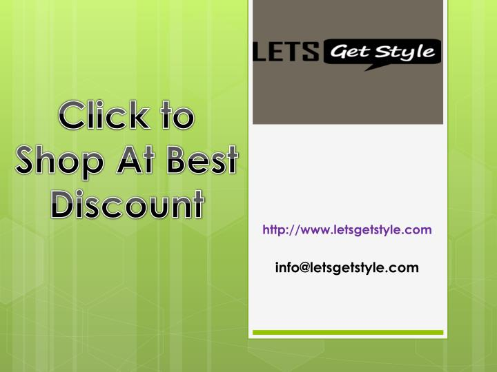 Click to Shop At Best Discount
