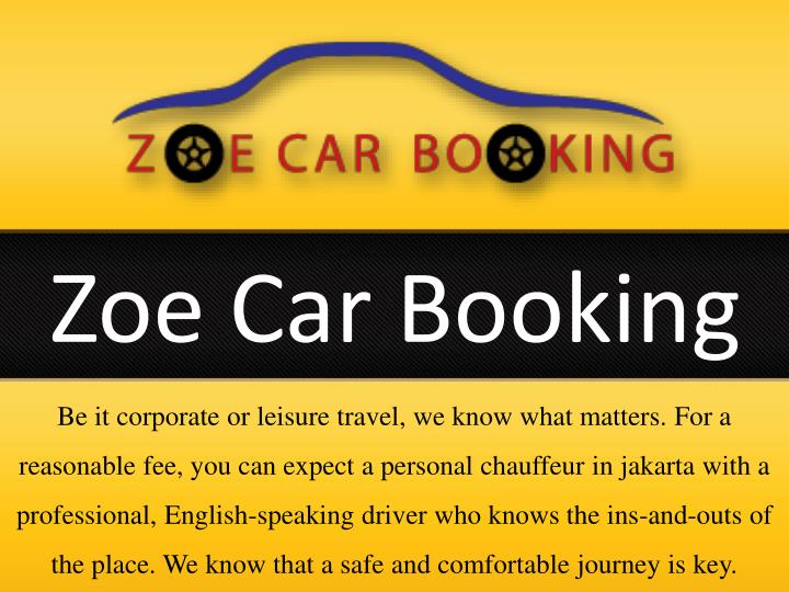 Zoe Car Booking