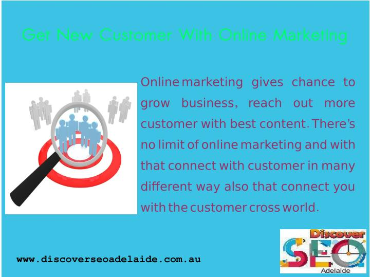 Get New Customer With Online Marketing