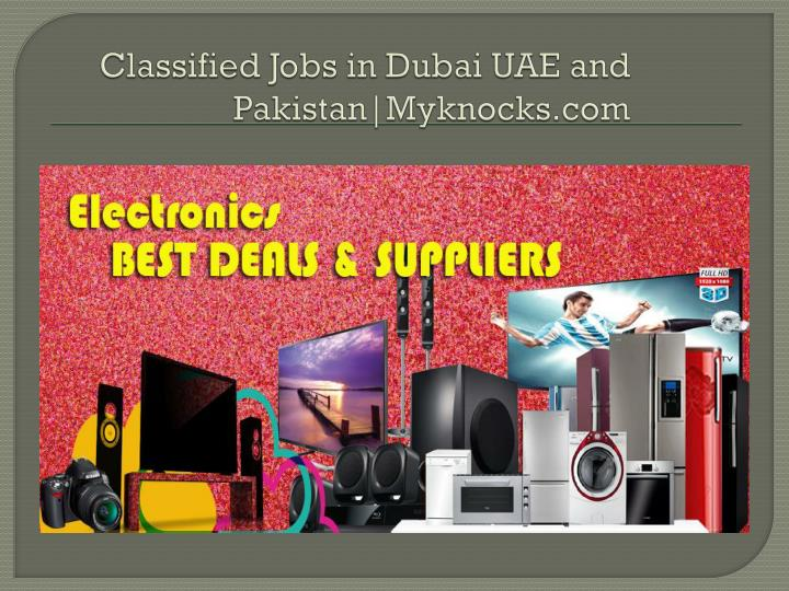 Classified Jobs in Dubai UAE