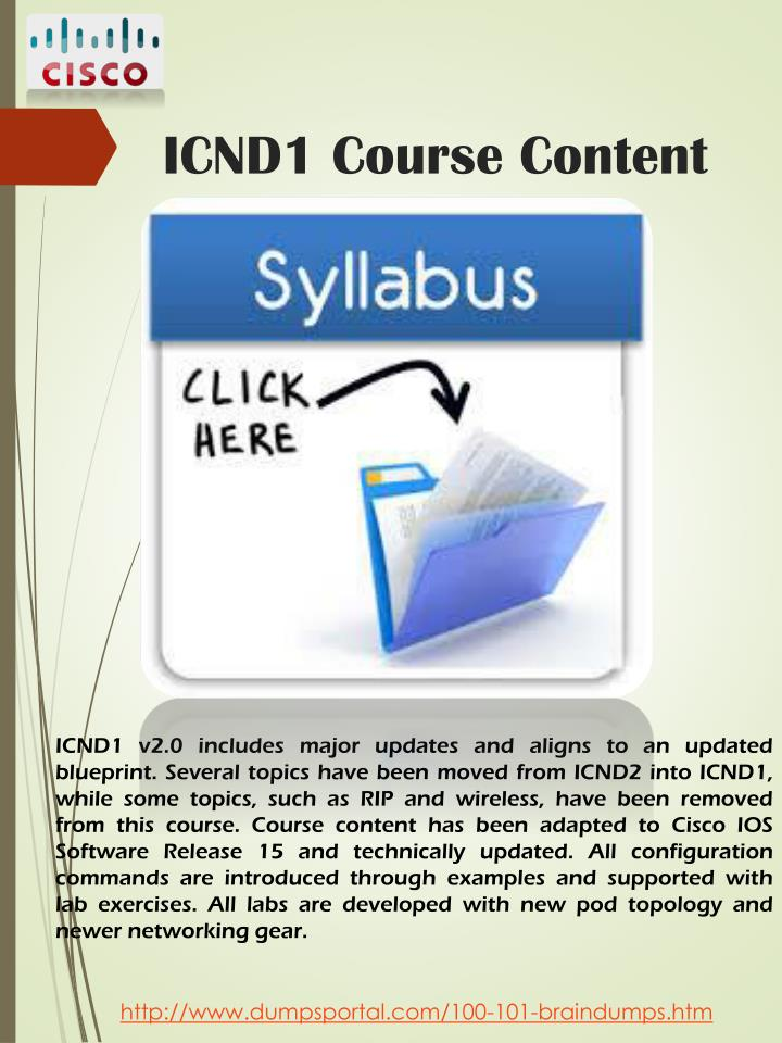 ICND1 Course Content