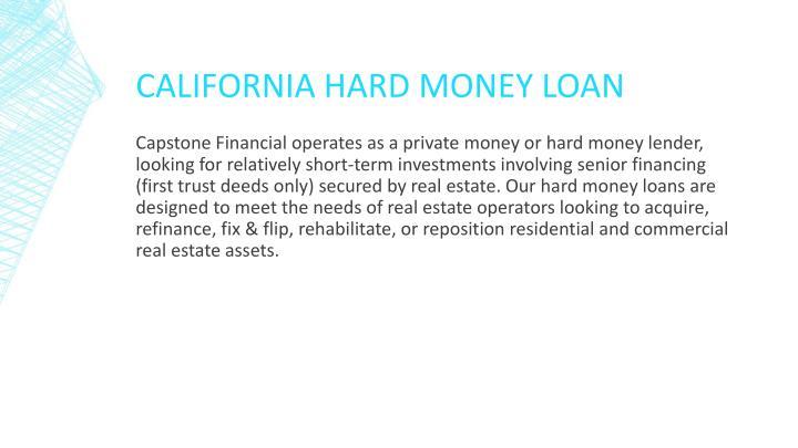 California Hard Money Loan