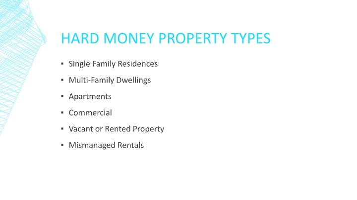 Hard Money Property Types