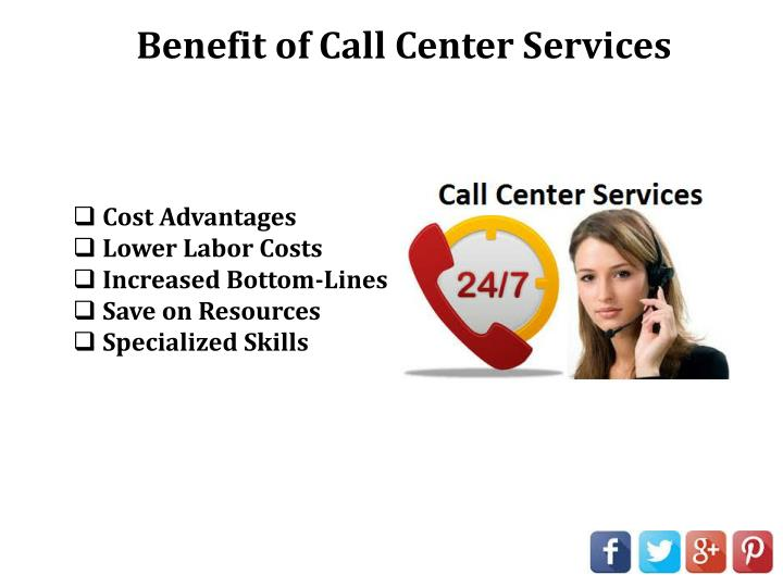 Benefit of Call Center Services