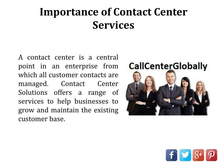 Importance of Contact