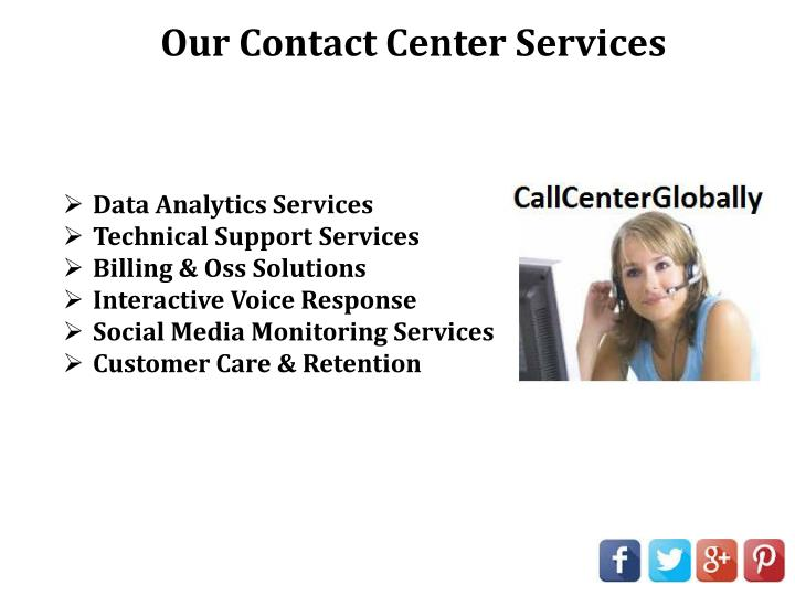 Our Contact Center Services