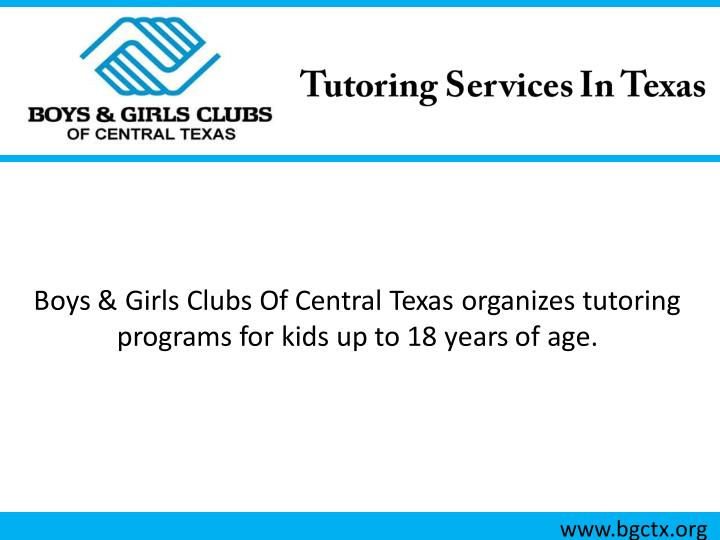 Boys & Girls Clubs Of Central Texas organizes tutoring