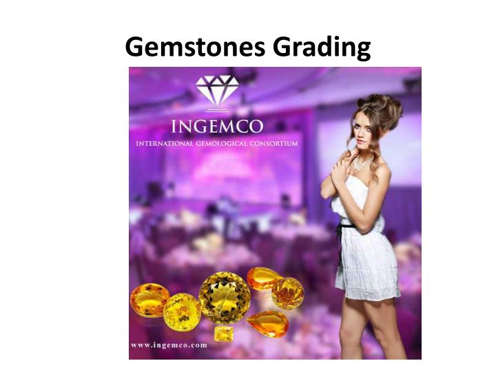 Gemstones grading