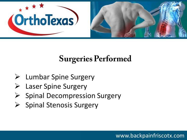Spondylolisthesis: - Morris Spinal Stenosis and Disc