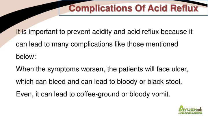 Complications Of Acid