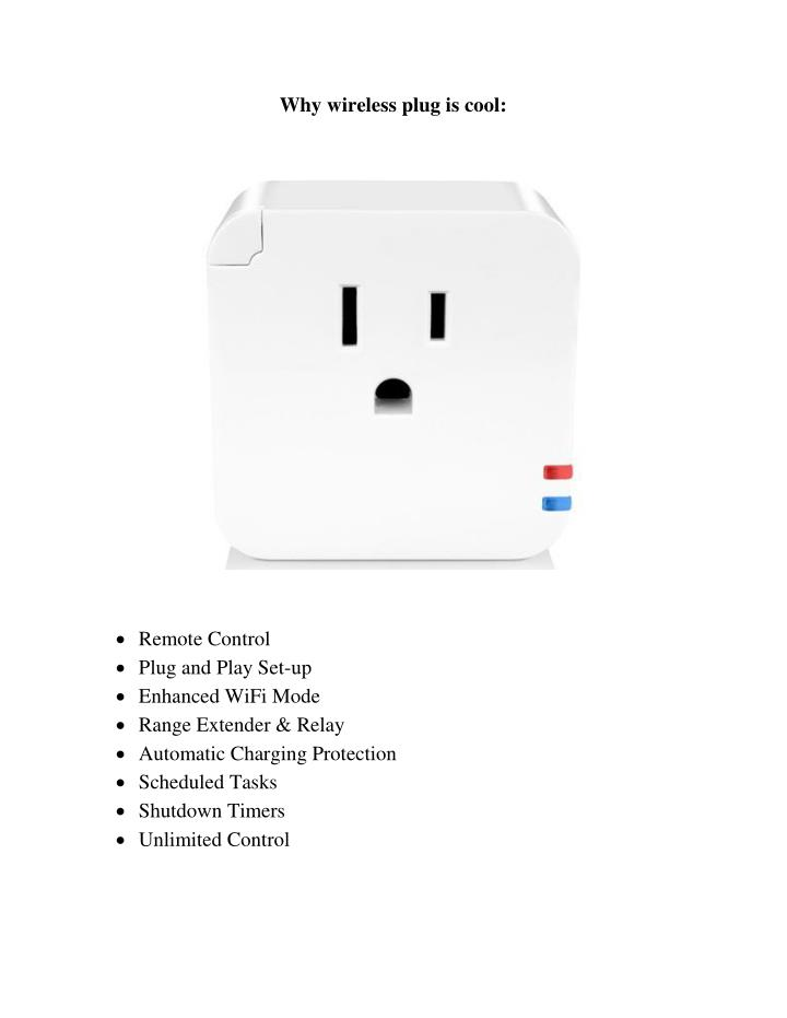 Why wireless plug is cool:
