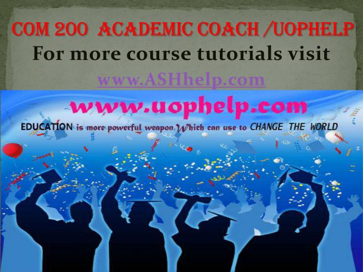 For more course tutorials visit www ashhelp com