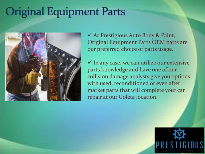 Original Equipment Parts