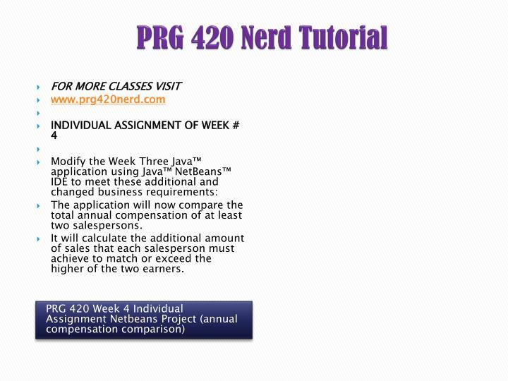 PRG 420 Nerd
