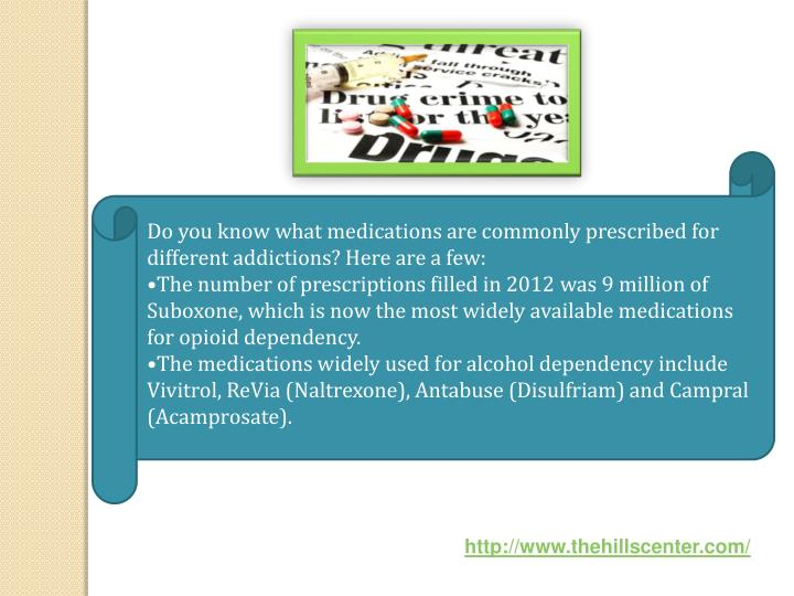 Do you know what medications are commonly prescribed for different addictions? Here are a few: