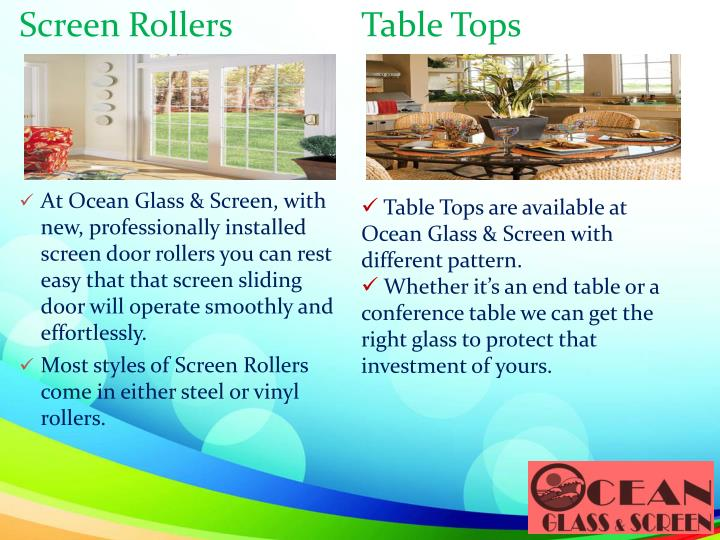 Screen Rollers