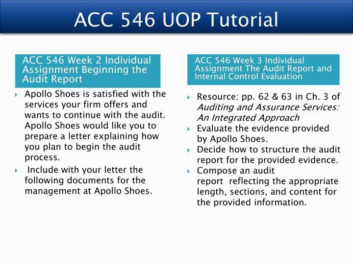 ACC 546 UOP Tutorial