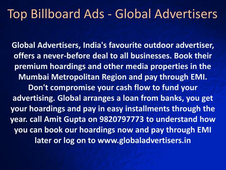 Top Billboard Ads - Global Advertisers
