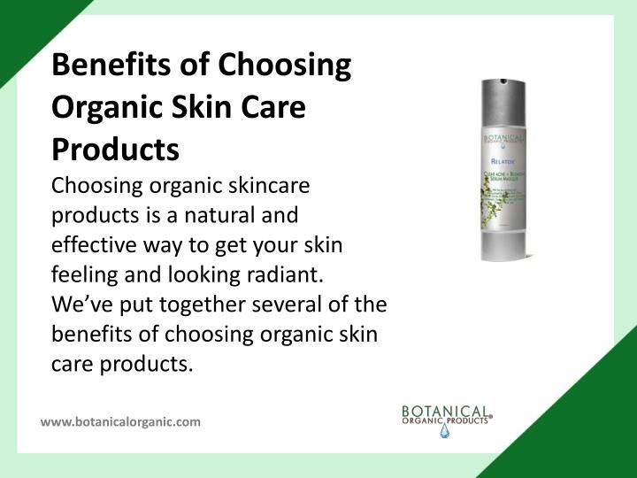 Benefits of Choosing Organic Skin Care Products