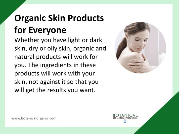 Organic Skin Products for Everyone