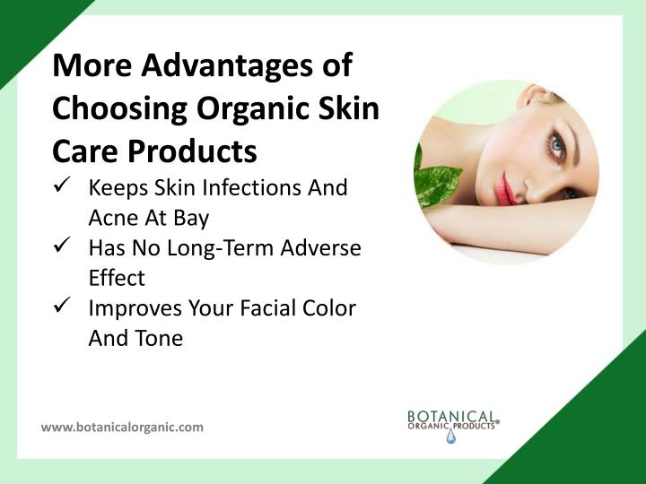 More Advantages of Choosing Organic Skin Care Products