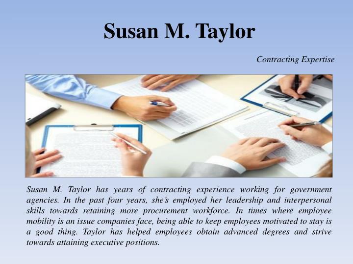 Susan M. Taylor