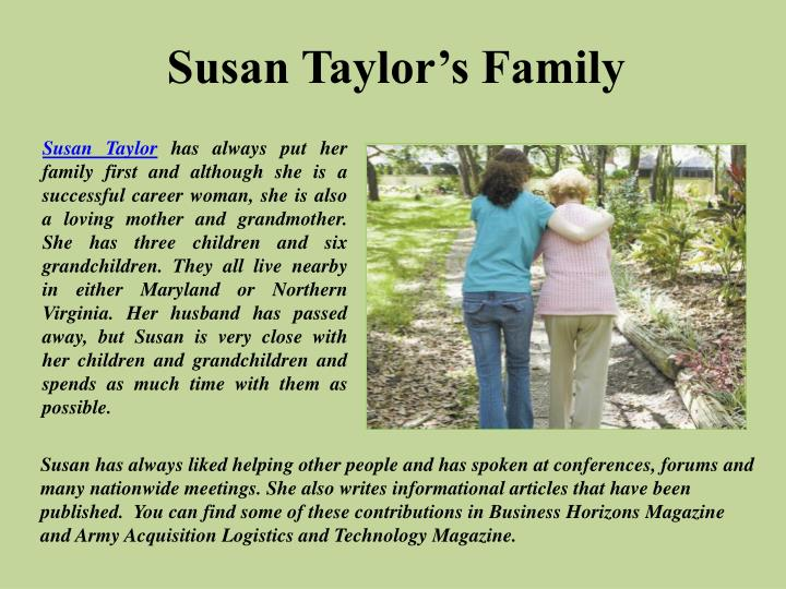Susan Taylor's Family